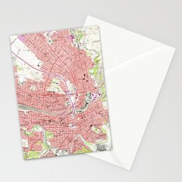 Vintage Map of Roanoke Virginia (1963) 2 Stationery Cards