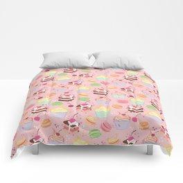sweet pattern aka cake , cupcake and macaroon Comforters