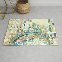 "Maurice Prendergast ""Little Bridge, Venice"" Rug"