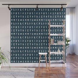 Nordic Runes // Regal Blue Wall Mural