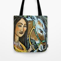 native Tote Bags featuring Native by Spirit Works Art