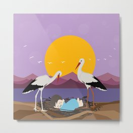 Courier adopted baby Metal Print