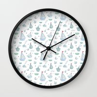 ships Wall Clocks featuring ships by Dlinnaya