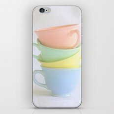 Pastel Tea Cup Stack iPhone & iPod Skin