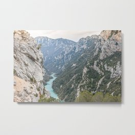 Blue river through the French mountains Metal Print