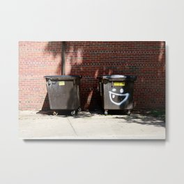 happy dumpster. Metal Print