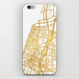 TEL AVIV ISRAEL CITY STREET MAP ART iPhone Skin