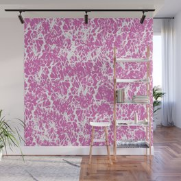 Pink and White Cracked Surface Wall Mural
