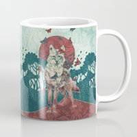 lady Mugs featuring Lady Butterfly by Paula Belle Flores