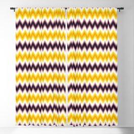 Chevron/Zigzagging Gradual Yellow & Dark Purple Color Blackout Curtain