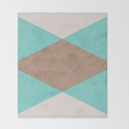 beach triangle Throw Blanket