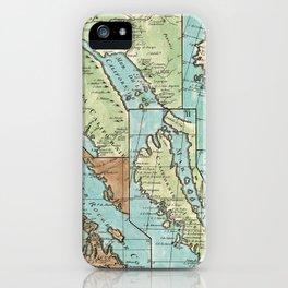 Antique Map of California iPhone Case