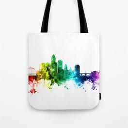 Des Moines Iowa Skyline Tote Bag