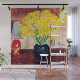 Daffodils  and Jonquils             by      Kay Lipton Wall Mural