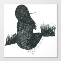 fili Canvas Prints featuring Fili d'erba by Valentina