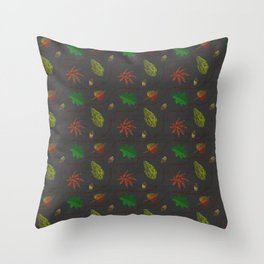 Fall Leaves on Linen Throw Pillow