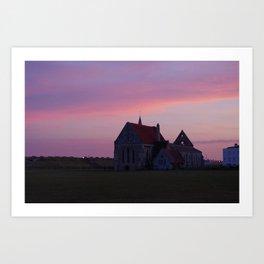 Sunset at Garrison Church, Portsmouth, England Art Print