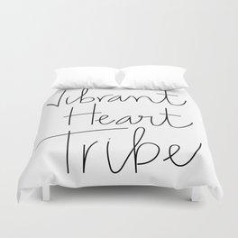 Vibrant Heart Tribe Duvet Cover
