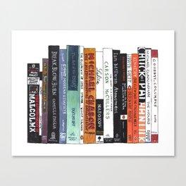 Book Lovers Bookshelf Painting Canvas Print