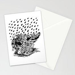 CHICKEN MAMA UMBRELLA Stationery Cards