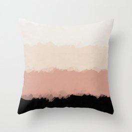 Abstract Rose Color Flora Blush Throw Pillow