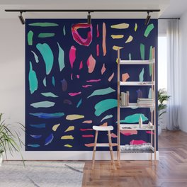 Brush Gems 2 - A deconstructed painting Wall Mural