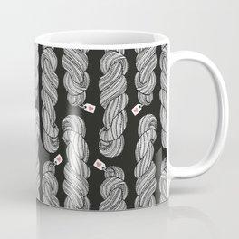 Yarn Crafter Skein Love White on Black Coffee Mug