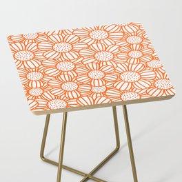 Field of daisies - orange Side Table