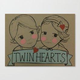 Twin Hearts Canvas Print