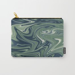 Digital marbling in blue and green tones Carry-All Pouch
