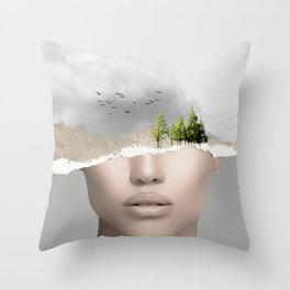 minimal collage /silence2 Throw Pillow