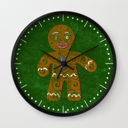 Swirly Christmas Cookie Wall Clock