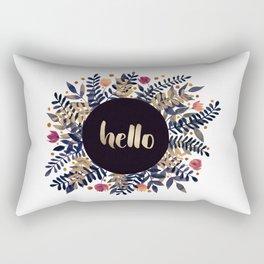 Hello autumn - purple and ochre Rectangular Pillow