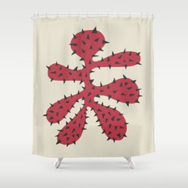Matisse Inspired Red Shape Shower Curtain