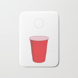 Beer Pong Illustration Bath Mat