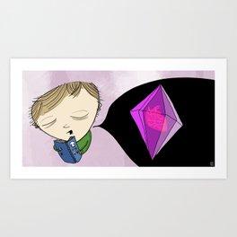 never be hurt again, encase your heart in diamond Art Print