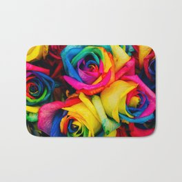 Rainbow Roses Bath Mat