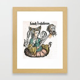 Judith and Holofernes Framed Art Print