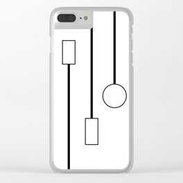 Minimalist Black and White Hanging Patterns Clear iPhone Case