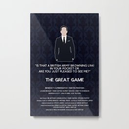 The Great Game - Jim Moriarty Metal Print