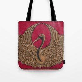 Japanese Stork Print Tote Bag