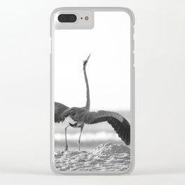 Great Blue Heron Clear iPhone Case