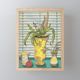 Window & Vases Framed Mini Art Print