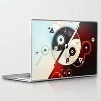 ying yang Laptop & iPad Skins featuring Ying-Yang Blue Version by Luis Pinto