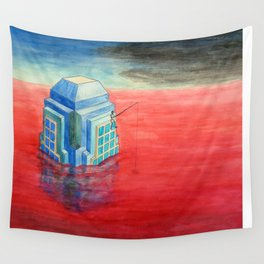 Fishin' on the Bank of the Red River Wall Tapestry