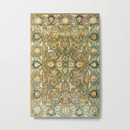 Safavid 'Polonaise' 17th Century Persian Carpet Print Metal Print