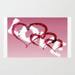 Triple Heart Love Rug