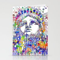 new york Stationery Cards featuring New York New York by Bekim ART