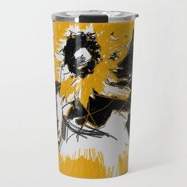 Sunflowers in vase Travel Mug