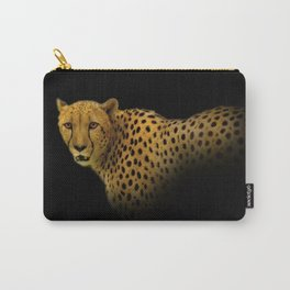 Cheetah Disappearing into Black Velvet Carry-All Pouch
